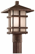 Kichler 9527AGZ Cross Creek Aged Bronze Craftsman 14 Inch Tall Post Lighting