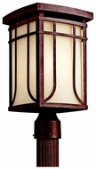 Kichler 49150AGZ Riverbank Outdoor 16 Inch Tall Bronze Post Light Fixture