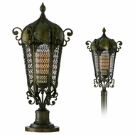 Corbett 110-82 Tangiers Outdoor Post or Pier Mount Lantern - 100 watts