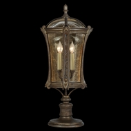 Fine Art Lamps 574480 Gramercy Park 31 inch outdoor pier/post light in antique gold finish