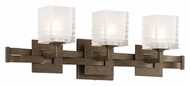 Troy B3583 Jensen Modern 3 Lamp Danish Bronze Finish 23 Inch Wide Vanity Light