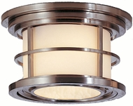 Feiss OL2213-BS Lighthouse 2-light 6 inch Outside Ceiling Light in Brushed Steel