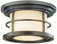 Feiss OL2213-BB Lighthouse 2-light 6 inch Outside Ceiling Light in Burnished Bronze