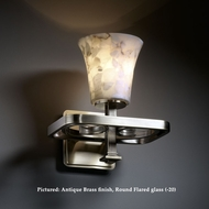 Justice Design ALR-8561 Arcadia Alabaster Glass 10 Inch Tall 1 Lamp Wall Sconce Lighting