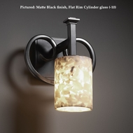 Justice Design ALR-8581 Heritage Transitional 10 Inch Tall Wall Lighting Sconce With Alabaster Glass