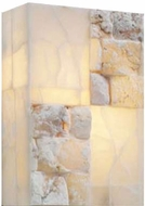 PLC 7314 Candice 2 Light Natural Alabaster Wall Sconce