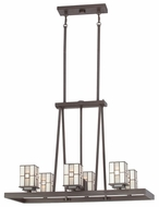 Quoizel TFFN5006WT Finley Large Bronze Finish Transitional 7 Light Chandelier Light Fixture