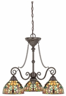 Quoizel TFKM5103VB Kami Tiffany Style 3 Light 24.5 Inch Dinette Chandelier Light