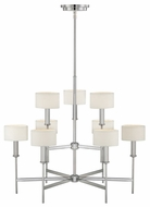 Quoizel AST5009C Asheton Modern Two Tier Chrome Finish Chandelier With Shades