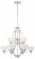 Quoizel CTR5009IS Carter Extra Large Two Tier 9-Light Silver Chandelier