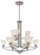 Quoizel EBN5009BN Ebony Two Tiered Nickel Finished Modern Chandelier Lighting
