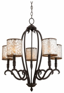 Quoizel ANS5005NE Anson 5-Light Transitional Chandelier with Shades