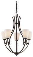 Quoizel CY5005PN Chantilly Transitional Curved Bronze 25 Inch Diameter Lighting Chandelier