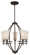 Quoizel BWN5005TM Bowen Teco Marrone Finish Contemporary 5-Light Chandelier Lighting