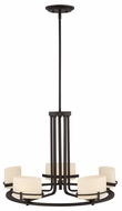 Quoizel NN5005WT Nolan Bronze Halogen Transitional Ceiling Chandelier