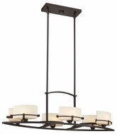 Quoizel NN5006WT Nolan 6 Lamp Halogen Bronze Transitional Style Dining Chandelier