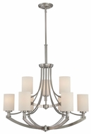 Quoizel IG5009BN Imogen Two Tiered Transitional 9 Light Chandelier with Shades