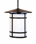Arroyo Craftsman BSH-14L Berkeley Craftsman Indoor/Outdoor Rod Hung Pendant Light - 14.375 inches tall