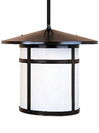 Arroyo Craftsman BSH-17 Berkeley Craftsman Indoor/Outdoor Rod Hung Pendant Light - 12.625 inches tall