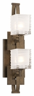 Troy B3584 Jensen Vertical 2 Lamp Contemporary Danish Bronze Vanity Lighting