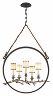 Troy F3445 Drift Circular 5 Lamp 40 Inch Tall Rustic Bronze Pendant Lighting