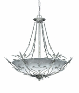 Crystorama 4700-SL Floral 25 inch foyer light in silver leaf finish
