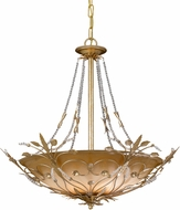 Crystorama 4700 Floral 25 inch 6-lite ceiling light in gold leaf