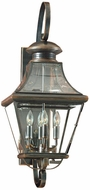 Quoizel CAR8730AC Carleton 27.5 inches tall outdoor lighting wall fixture in aged copper