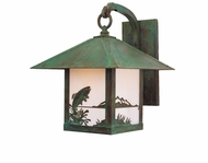 Arroyo Craftsman TRB-9TR Timber Ridge 9 inch Outdoor Wall Sconce with Trout Filigree