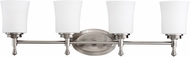 Kichler 5362-NI Wharton Brushed Nickel Contemporary 4-Light Bath Vanity