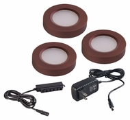 Maxim 53853BRZ CounterMax MX-LD-R Anodized Bronze LED Puck Light Starter Kit