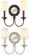Hudson Valley 632 Regent 2 Light Wall Sconce with Mirrored Backplate