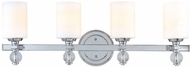 Troy B1584PC Bentley 4 Light White and Chrome Vanity Wall Lighting Fixture