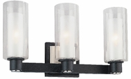 Troy B1673-FBK Alta 3 Light Wrought Iron Vanity / Wall Sconce