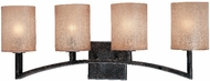 Troy B1734-ABZ Austin 4 Light Wrought Iron Vanity / Wall Fixture