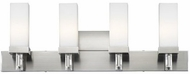 Forecast F4327-36 Casa 4-Light Contemporary Halogen Vanity Light in Satin Nickel