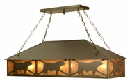 Meyda Tiffany 106870 Steer Rustic Style 50 Inch Long Kitchen Island Lighting