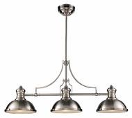 Landmark 66125-3 Chadwick 3 Lamp 47 Inch Wide Satin Nickel Island Light Fixture