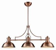 Landmark 66145-3 Chadwick 47 Inch Long Antique Copper Finish Kitchen Island Lighting