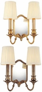 Hudson Valley 272 Endicott 2 Light Wall Sconce with Mirrored Backplate