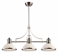 Landmark 66215-3 Chadwick Polished Nickel Finish 47 Inch Wide Island Lighting Fixture