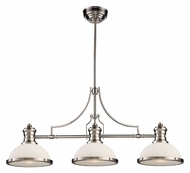 Landmark 66225-3 Chadwick 3 Lamp Satin Nickel Island Light Fixture - Modern