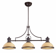 Landmark 66235-3 Chadwick Contemporary Oiled Bronze 47 Inch Wide Kitchen Island Light