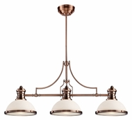 Landmark 66245-3 Chadwick Antique Copper Finish 47 Inch Wide 3 Lamp Island Light