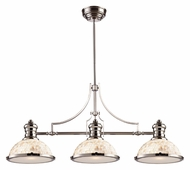 Landmark 66415-3 Chadwick 3 Lamp Cappa Shell Glass Polished Nickel Kitchen Island Lighting