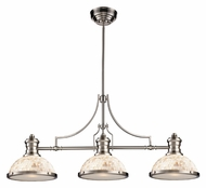 Landmark 66425-3 Chadwick Cappa Shell Satin Nickel Finish 3 Lamp Island Lighting