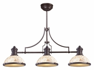 Landmark 66435-3 Chadwick Oiled Bronze Finish 47 Inch Wide Kitchen Island Light - Cappa Shell