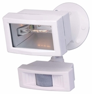 Nuvo 76504 Exterior Flood Light Halogen Motion Sensing 5 Inch Wide Outdoor Flood Light - White