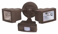 Nuvo 76507 Exterior Flood Light 2 Lamp 15 Inches Wide Bronze Motion Sensing Outdoor Flood Lamp