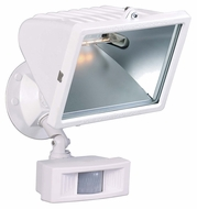 Nuvo 76508 Exterior Flood Light White 12 Inch Tall Motion Sensing Large Halogen Flood Light